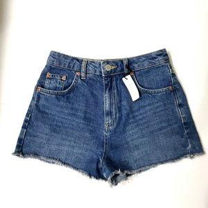 Topshop Moto Mom Denim Shorts